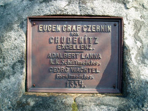 Detail desky na Lannově kříži