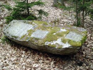 Pomník 1. výsevu modřínu na Jindřichohradecku-celkový pohled (Klenov)